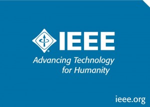 Logo IEEE blue back